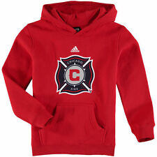 Chicago Fire SC adidas Youth Primary Logo Pullover Hoodie - Red - MLS