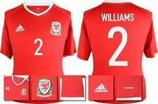 *2016 - ADIDAS ; WALES HOME SHIRT SS / WILLIAMS 2 = KIDS SIZE*