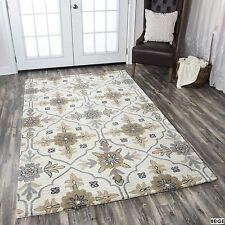 Rizzy Home Valintino Collection Blue/ Beige Area Rug (5' x 8')