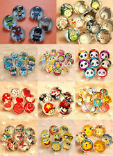 4pcs 22mm Glass Kids Button Badges Pins Brooches Birthday Wedding Party Gifts