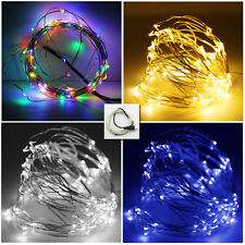 10M 100 LED Micro Wire String Fairy Wedding Christmas Metal Lights With USB Port