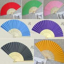 Candy Colors Chinese Folding Bamboo Fan Hand Paper Fans Wedding Party Favors