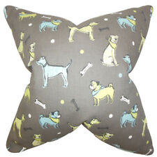 The Pillow Collection Busby Animal Print Cotton Throw Pillow