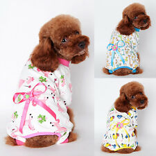 Pet Doggy Cartoon Pajamas Cat Puppy Cozy Clothes Apparel Dog Jumpsuits Outfits