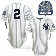 2011 Derek Jeter New York Yankees Authentic Home Jersey w/ 3000 Hits Patch