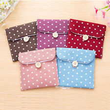 Girl's Convenient Polka Dot Sanitary Pad Holder Sanitary Napkin Towel Small Bag