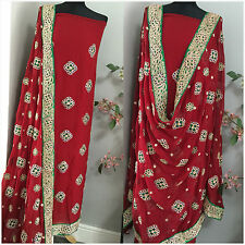 PURE Jeorjet Silk INDIAN PAKISTANI SALWAR KAMEEZ WEDDING SUIT MATERIAL Unstitchd