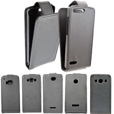 Flip Leather Slots Phone Accessory Snap On Hard Skin Cover Case For Mobile Phone
