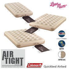 Coleman Quickbed Airbed Flockbed MATTRESS INFLATABLE MAT - Single Double Queen