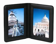 Royce Leather 5 x 7 Double Picture Frame
