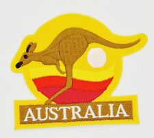 Australia Kangaroo Travel Souvenir Fight Iron on Applique Patch Embroidered