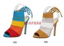 Vogue Women's Lady High Heels Mixed Color Sandals Stilettos Pumps Party Shoes