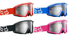 FOX MAIN MOTOCROSS MX GOGGLES SOLID red blue black pink clear tear-off mtb bike