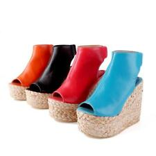 Womens High Heels Platform Wedge Heels Peep Toe Toe Slingback Summer Sandals