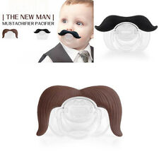 Mustachifier Baby Infant Pacifier The Cowboy Gentleman Binkie Mustache Beard New