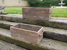 Vintage Style Covent Garden Wooden Boxes/Crates Storage Small Large or Set of 2
