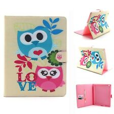 Flip Folio Painted Leather Wallet Stand Case Pouch Skin Bag For Various Tablet J