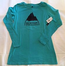 Burton Women's Long Sleeve Tee Shirt Mountain Vista Green S, L - New w/ Tags!