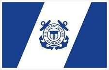 United States Coast Guard Auxiliary Flag Decal / Sticker
