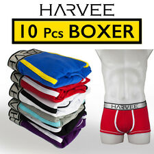 NEW 10 Pcs Men's Boxer Underwear HARVEE Cotton Trunk Brief Short Undies CK2015A