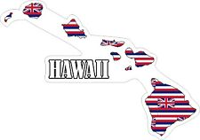 Hawaii Map Flag Decals / Stickers