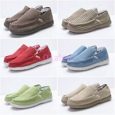 Men Driving Canvas Slip On Loafer Leisure Moccasins New Sneaker Flat Comfy Shoes