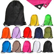 Waterproof School Drawstring Duffle Bag Sport Gym Swim Dance Shoe Backpack Gift