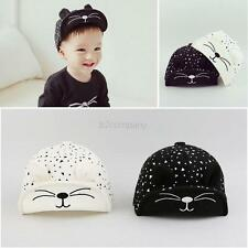 Toddler Kids Baby Beret Kitten Visor Baseball Cap Casquette Cotton Peaked Hat