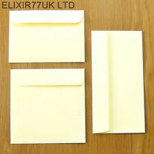 C6 DL SQUARE 100gsm QUALITY IVORY ENVELOPES 4 GREETING CARDS PAPER CRAFT WEDDING