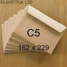 C5 / A5 100gsm QUALITY BROWN KRAFT ENVELOPES RECYCLED CARDS PAPER WEDDING CRAFTS