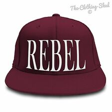 REBEL SNAPBACK FLAT PEAK HAT CAP HIPSTER TUMBLR NEW