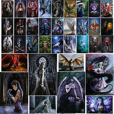 Metal Fridge Magnets Anne Stokes Fantasy Mystical Dragon Rose Owl Unicorn Gothic