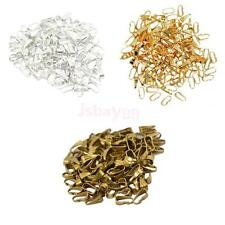 100x Silver Plated Pendant Clasps Pinch Bails Connector DIY Jewelry Making 8mm