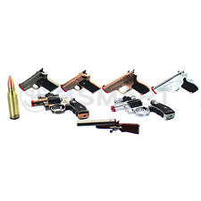 Gun Butane Refillable Lighter Rifle Revolver Shotgun Pistol Bullet Handgun Cool