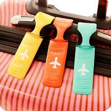 Quality Luggage Tag Holder Striped Name Address ID Suitcase Bag Labels