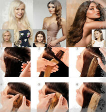 "12""-20"" 40pcs Full Head Tape In 100% Remy Human Hair Extensions Skin Hair Weft"