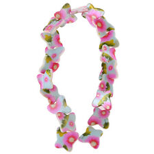 1string Flower Pattern Butterfly Shell Loose Spacer Bead Fit Jewelry Charms L