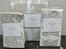 NEW Pottery Barn AIDEN Medallion King Duvet/ 2 Shams ~ NEUTRAL Linen/Cotton ~NIP