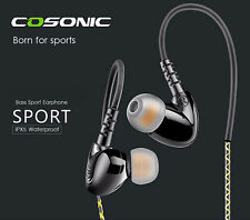 Cosonic W1 Bass Sports Stereo Headphones Earphone HD Audio 3.5mm In Ear Headset