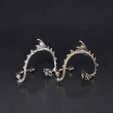 2Pcs Dragon Snake Ear Cuff Clip Wrap Lure Stud Earring Gothic Punk Gifts Cool