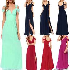 Sexy Long Chiffon Bridesmaid Formal Gown Ball Party Cocktail Evening Prom Dress