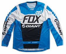 Fox Giant Demo Long Sleeve Bicycle Jersey Blue