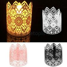 6pcs Tea Light Candle Lampshade Holder Wedding Birthday Party Retro Table Decor