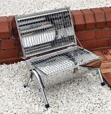 Portable Barrel Stainless Steel BBQ Garden Camping Picnic Charcoal Grill Table
