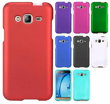 For Samsung Galaxy Amp Prime Rubberized HARD Case Phone Cover + Screen Guard