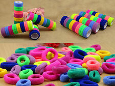 Colorful Women Girls Elastic Hair Ties Rubber Bands Ropes Rings Ponytail Holder