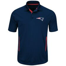"New England Patriots Majestic ""Field Classic 2"" Men's Short Sleeve Polo Shirt"