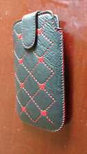 Black red pattern PU Leather Flip Case cover for Samsung Galaxy S1 i9000
