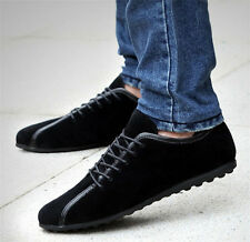 Vogue Suede Casual Mens Loafers Driving Moccasins British Lace Up Shoes Size