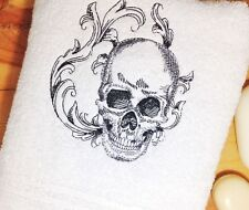 Baroque Skull Towel ~Hand & Bath Towels and sets~ Embroidered Decor ~Free Ship